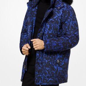 Michael Kors Jackets & Coats - Michael Kors Faux-Fur Trimmed Volcanic-Print Parka